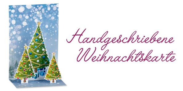 Handgeschriebene Weihnachtskarte - BARIC Exklusive Weinpräsente